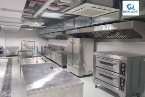 Thiết kế, lắp đặt hệ thống bếp công nghiệp inox cho trường học tại Hà Đông
